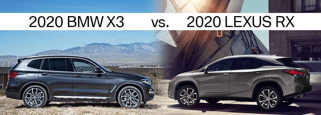 2020 Lexus Rx 350 Vs Bmw X3